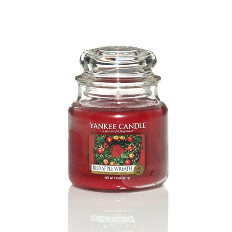 Bild von Red Apple Wreath medium Jar (mittel)