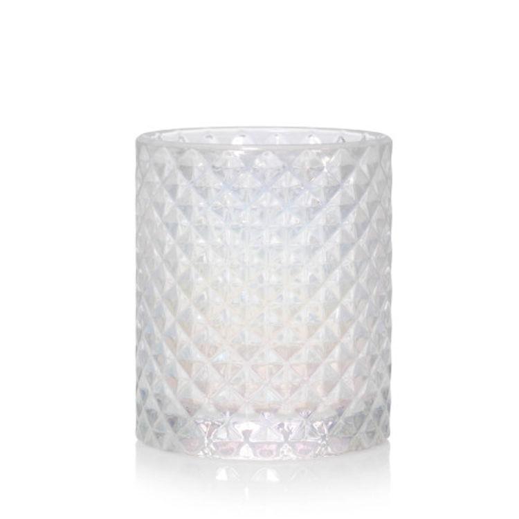 Bild von Langham Faceted Glass Votive Holder H64xD57mm