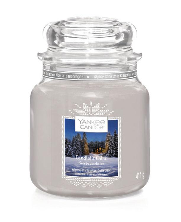 Image de Candlelit Cabin medium Jar (mittel)