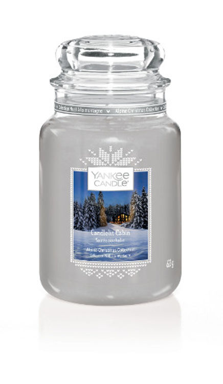 Image de Candlelit Cabin large Jar (gross/grande)