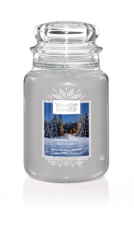 Bild von Candlelit Cabin large Jar (gross/grande)