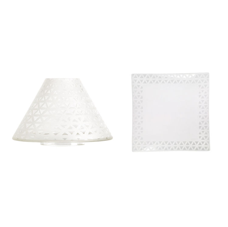 Bild von Belmont Sandblasted Glass  Jar Shade & Plate Lg/Md