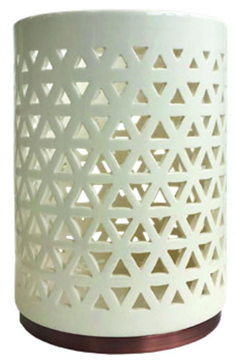 Image de Belmont Glaced Ceramic Jar Holder H16.5xD12.4cm