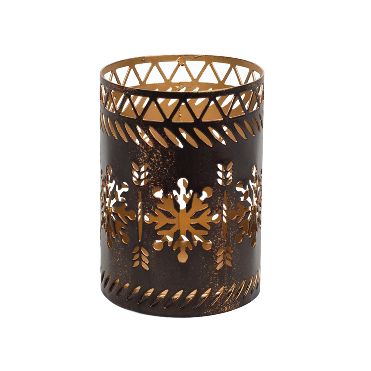 Bild von Petite Candle Holder Bronze Snowflake