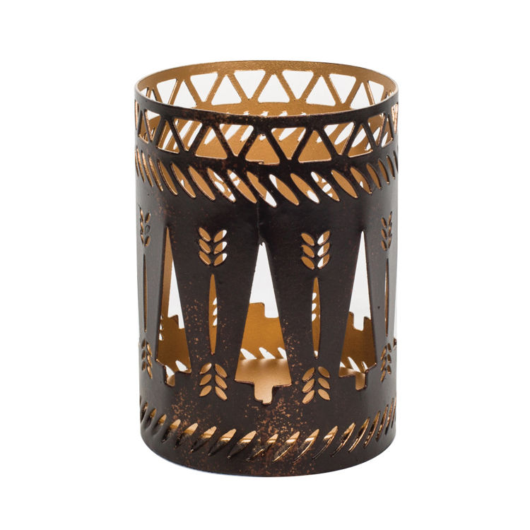 Image de Petite Candle Holder Bronze Trees