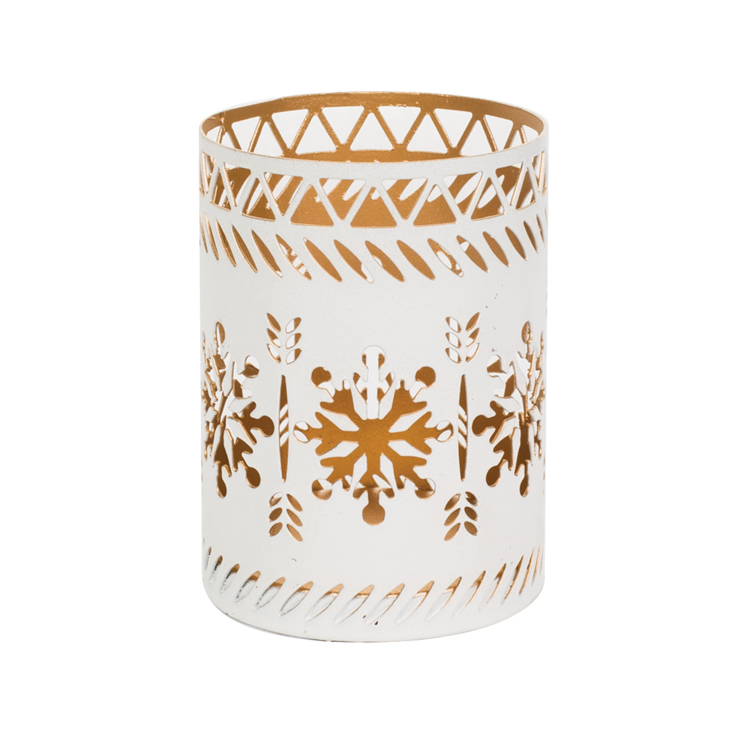 Image de Petite Candle Holder White Snowflake
