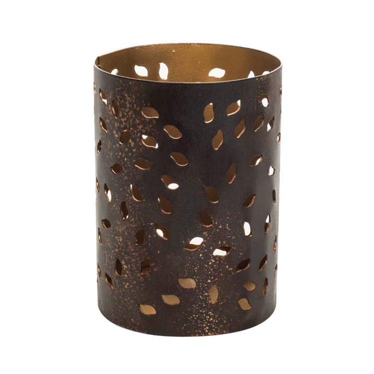 Image de Petite Candle Holder Glowing Leaf
