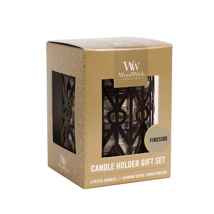 Image de Petite Candle Giftset Woodwick Fireside