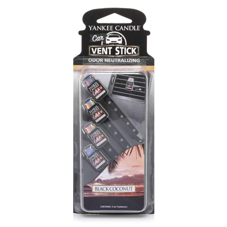 Image de Black Coconut Car Vent Stick Autoduft