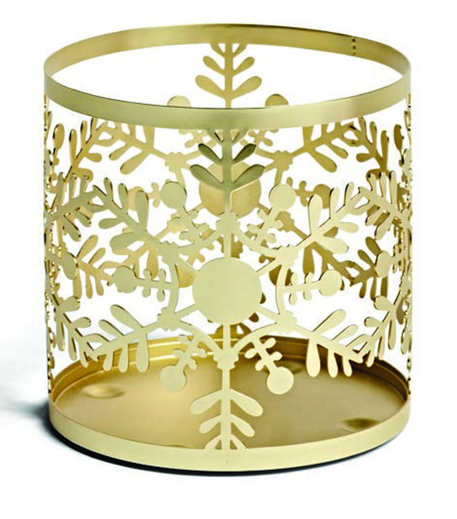 Image de Snowflake Frost Jar Sleeve H110xB105xT105mm