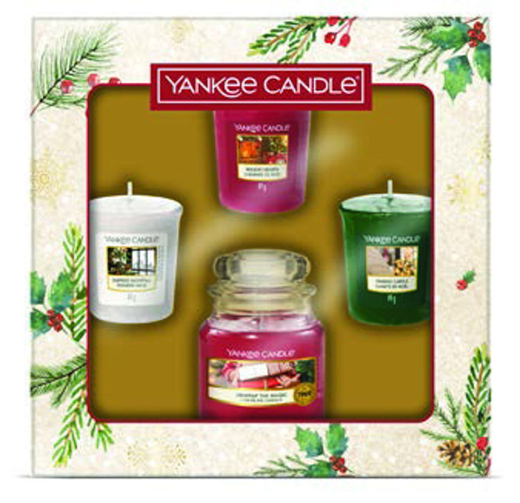 Image de Christmas Morning Giftset 1 small Jar and 3 Votives