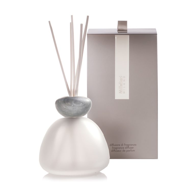 Image de Marble Glass Diffuser Frosted Grey Cap