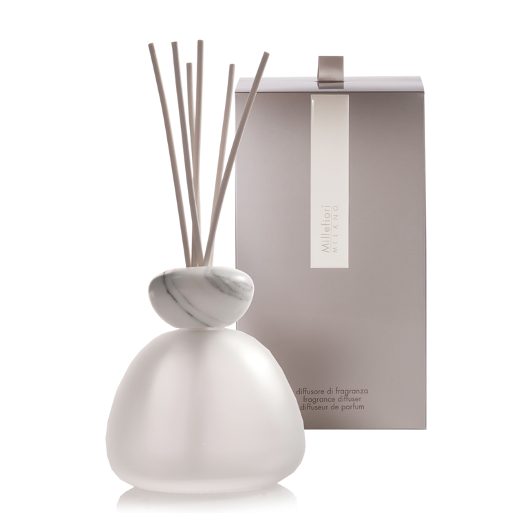 Image de Marble Glass Diffuser Frosted White Cap