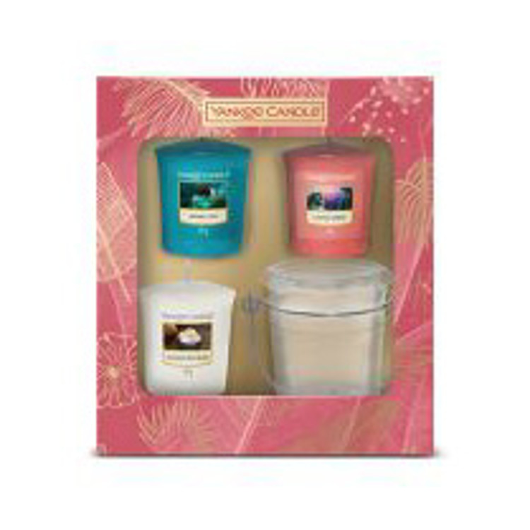 Bild von The Last Paradise Giftset 3 Votive Candles and 1 Holder