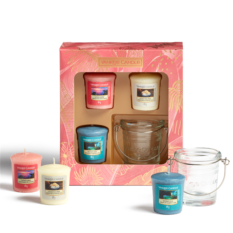 Image de The Last Paradise Giftset 3 Votive Candles and 1 Holder