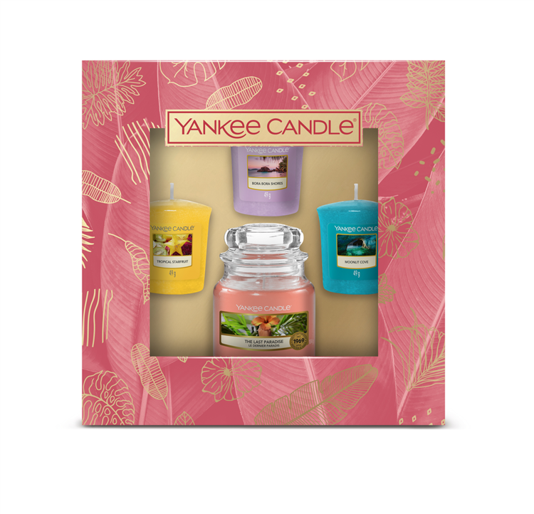 Image de The Last Paradise Giftset 1 small Jar and 3 Votives