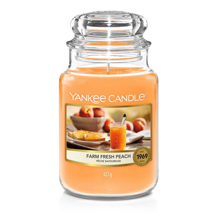 Image de Farm Fresh Peach large Jar (gross/grand)